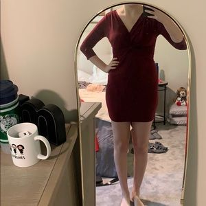 Long sleeve cocktail dress. NEW.